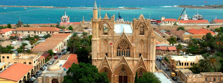 St Nicolas cathedral (Lala Mustafa Pasha Mosque) in Famagusta